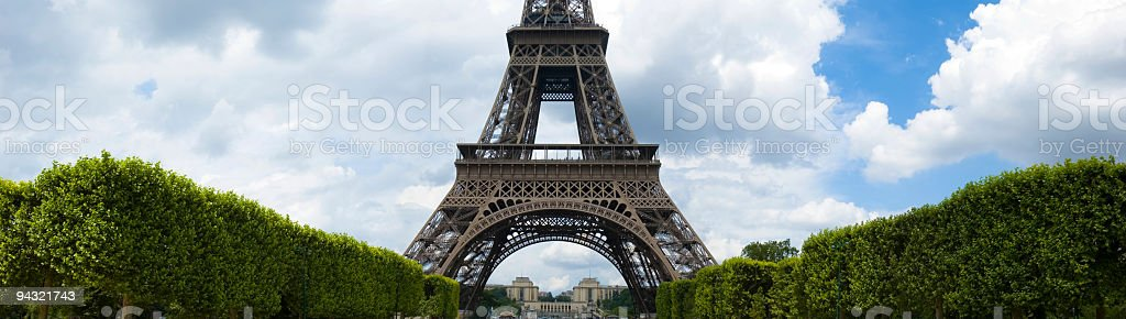 Champ de Mars, Eiffel Tower, Paris stock photo