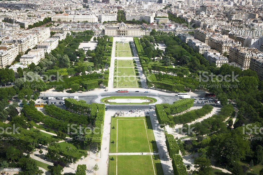 Champ de Mars, Paris, France stock photo