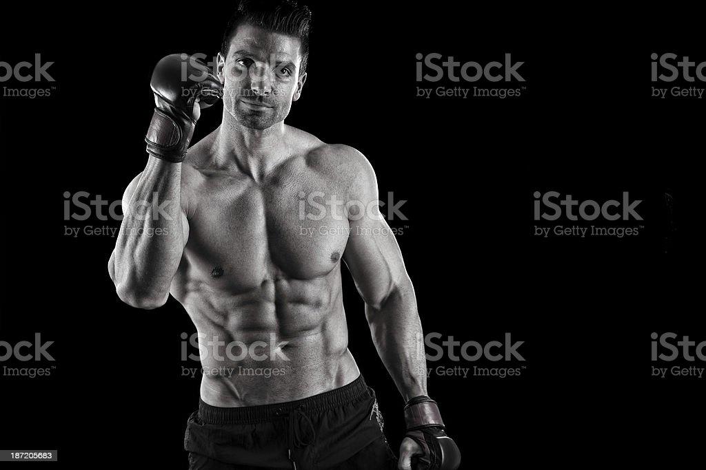 MMA champ royalty-free stock photo