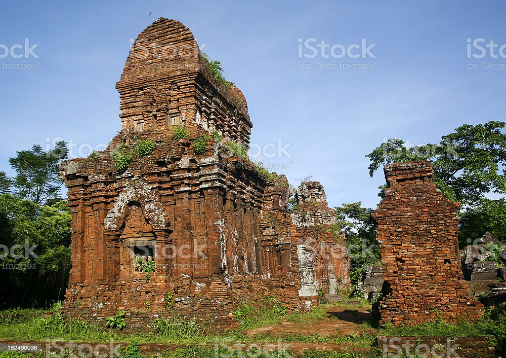 Champa ruins, My  Son stock photo