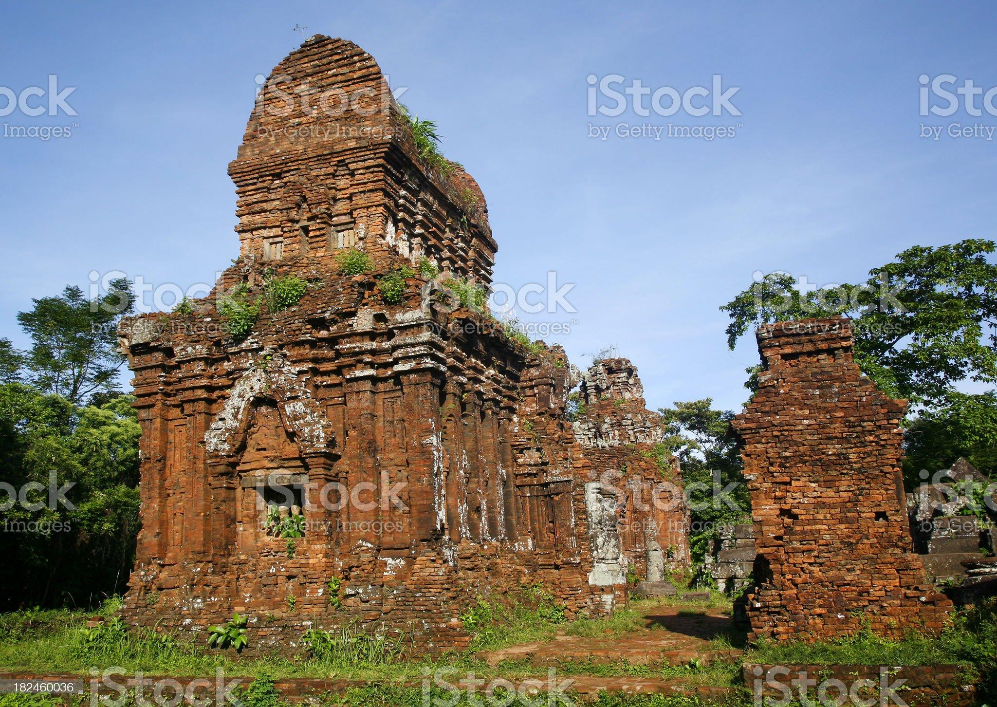 Champa ruins, My  Son royalty-free stock photo
