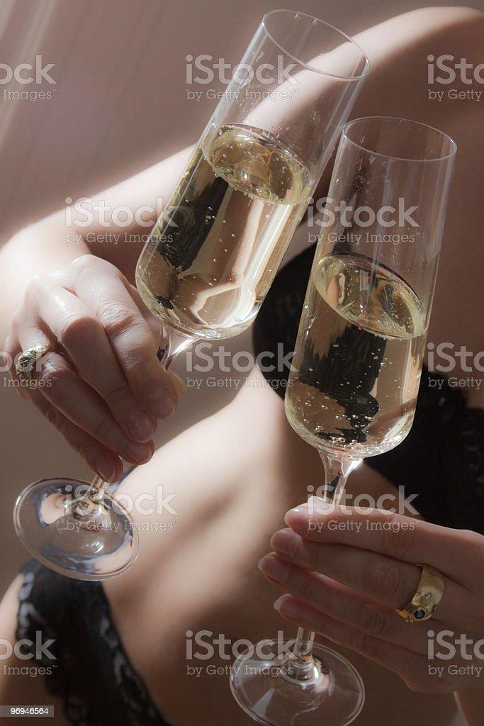 Champagne um deux foto de stock royalty-free