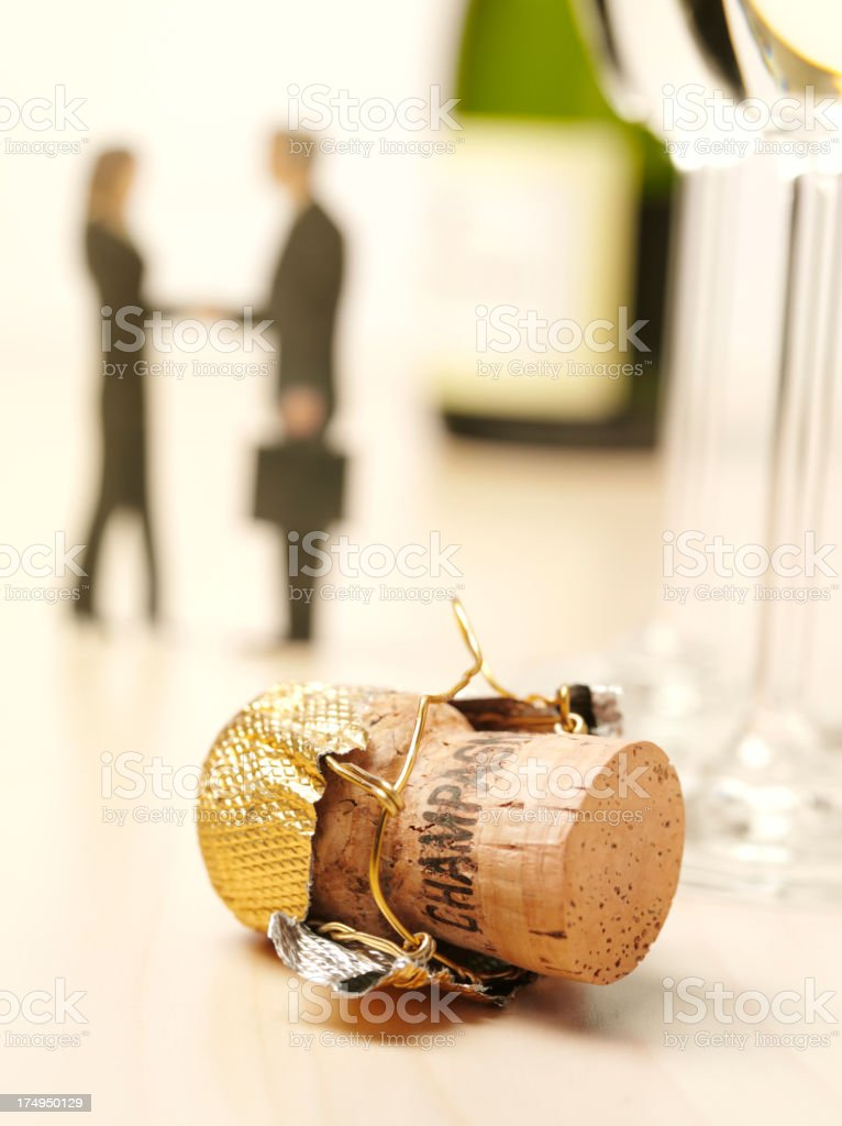 Champagne and Business People Celebrating Success stock photo