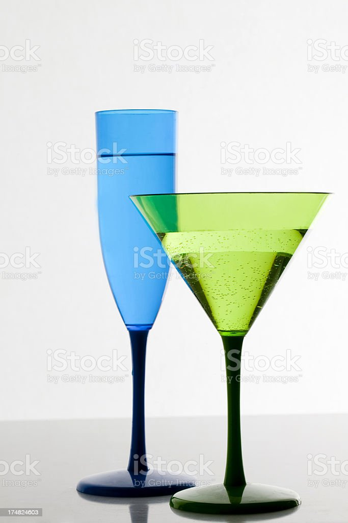 Champagne and Cocktail royalty-free stock photo