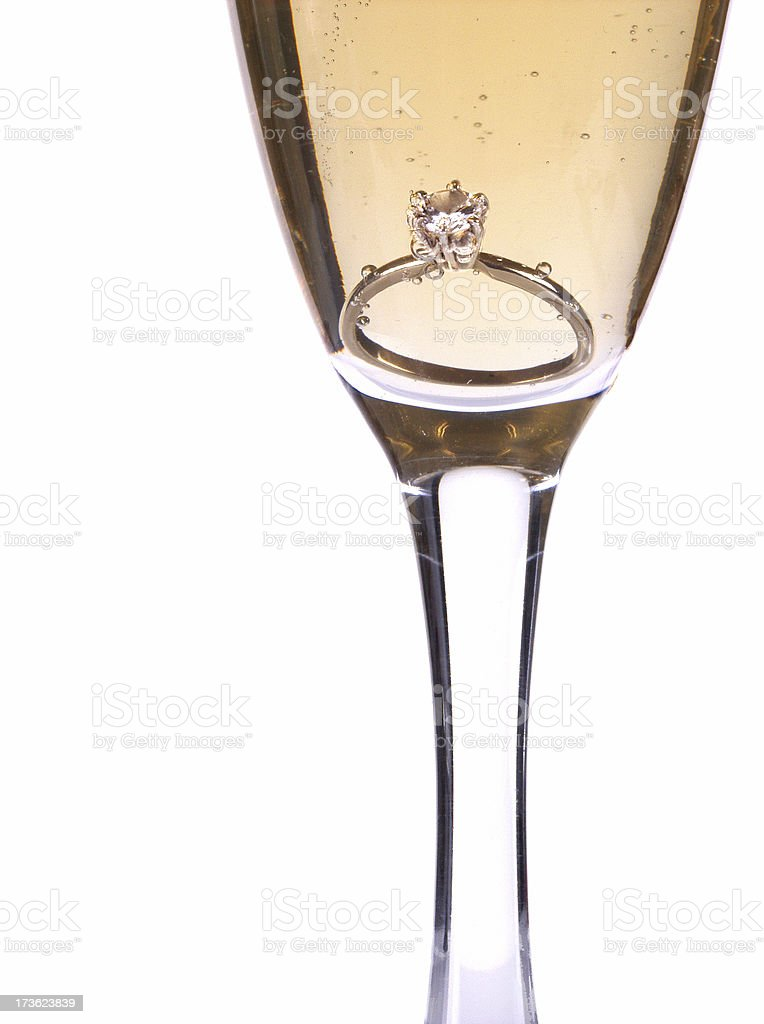 champagne and  diamond royalty-free stock photo