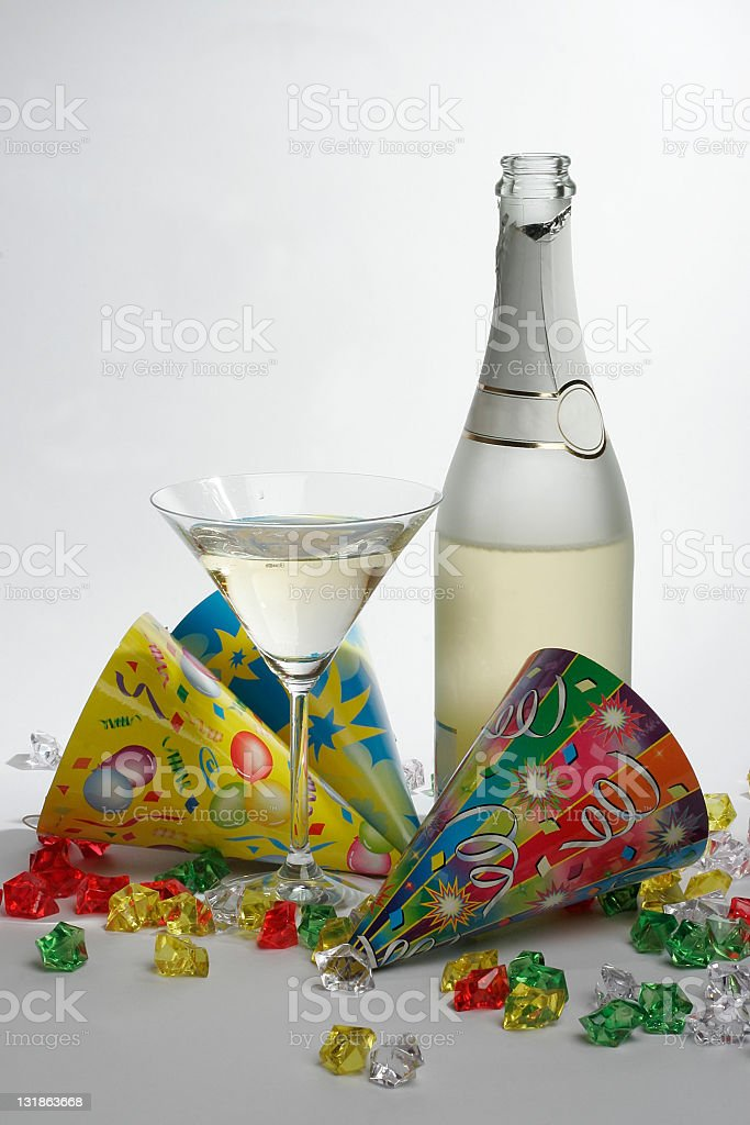 Champagne and glass royalty-free stock photo