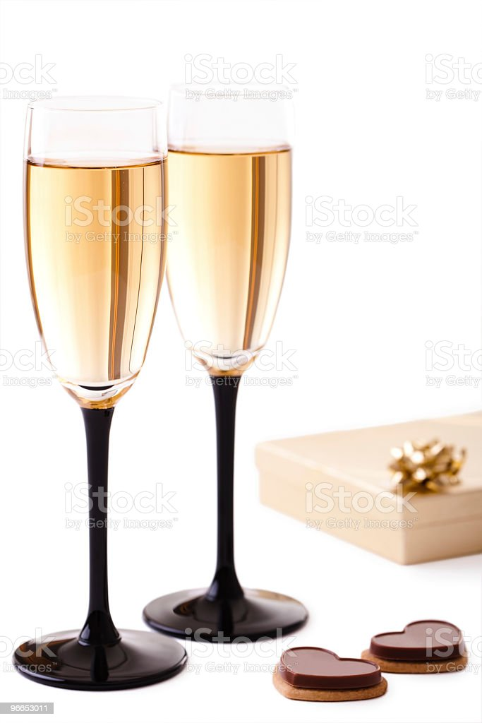 Champagne and romantic surprises royalty-free stock photo