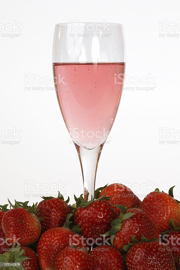 Champagne and Strawberries royalty-free stock photo