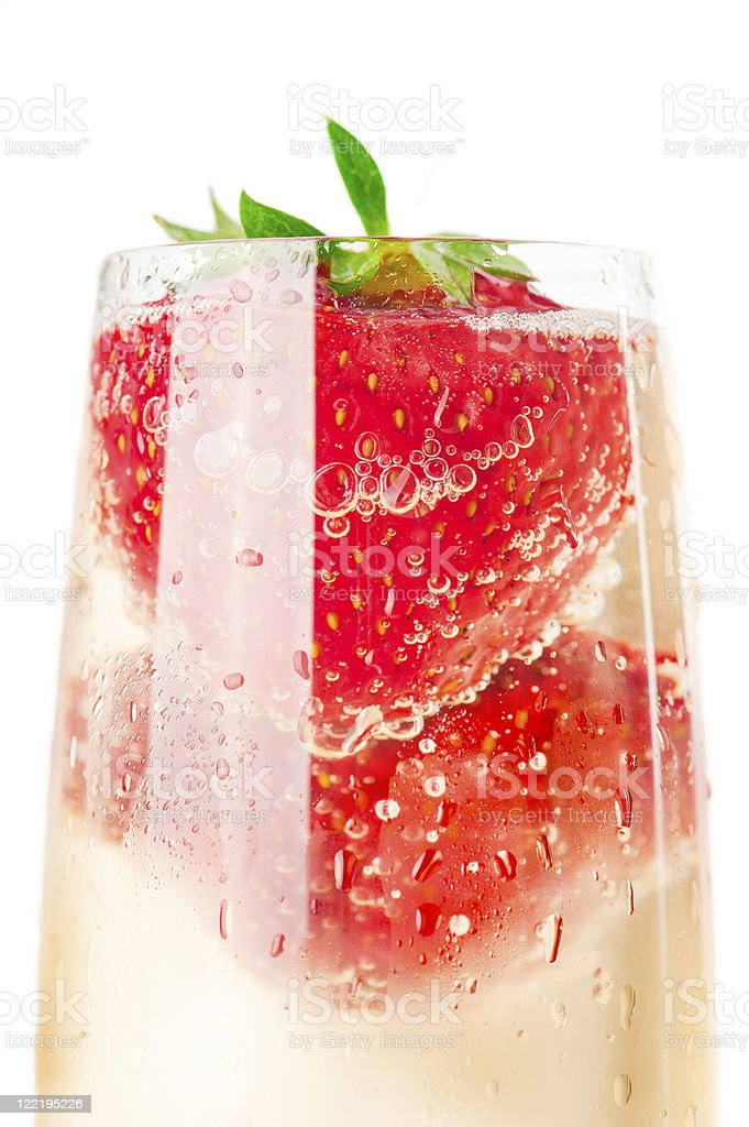 Champagne and strawberry royalty-free stock photo