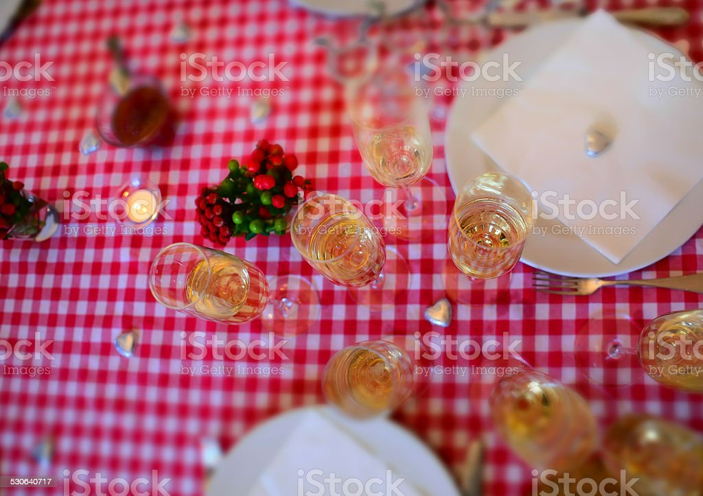 Champagne at New Year's Brunch (Selective Focus) stock photo