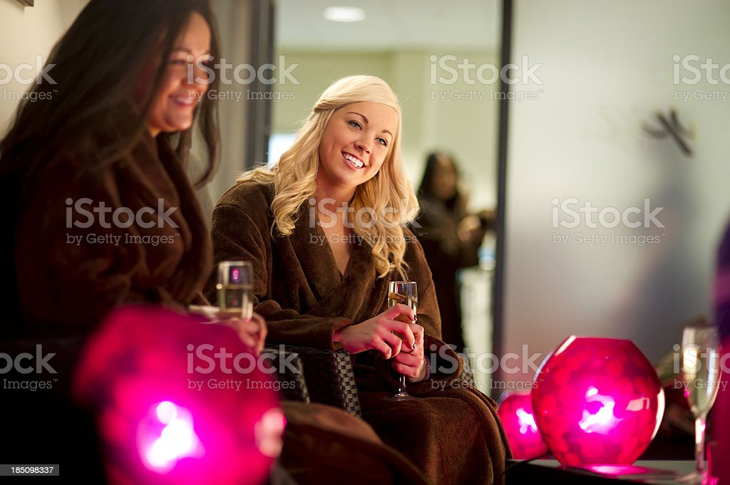 champagne at the spa royalty-free stock photo