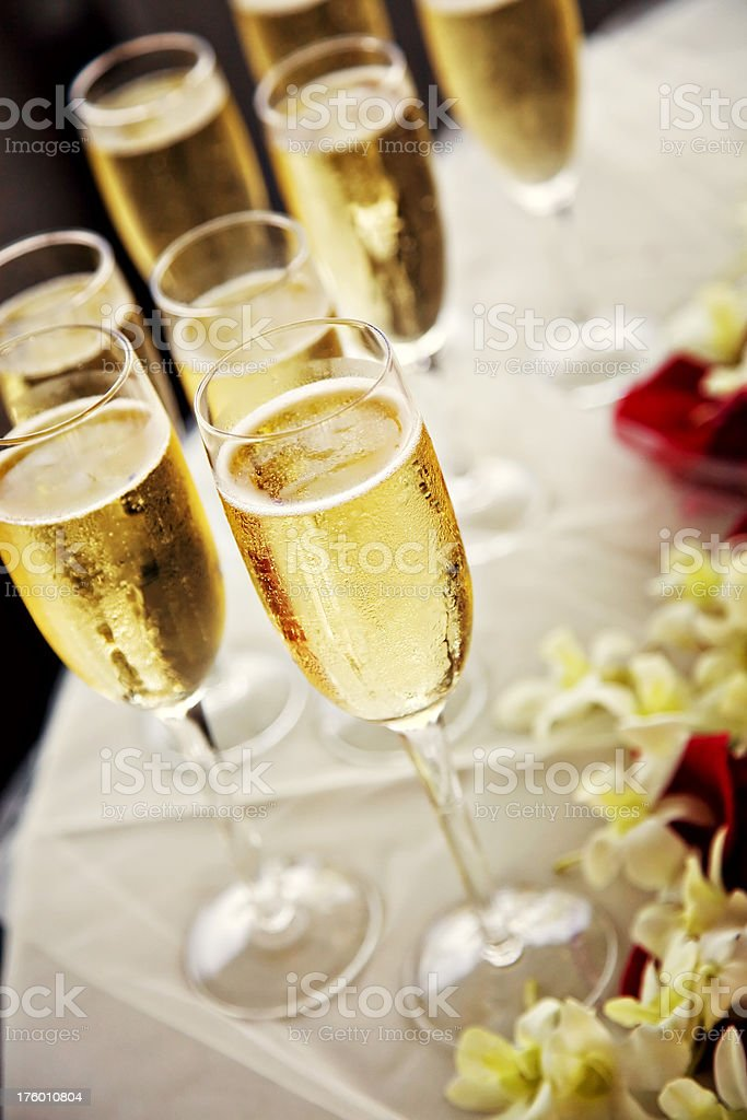 champagne at wedding royalty-free stock photo