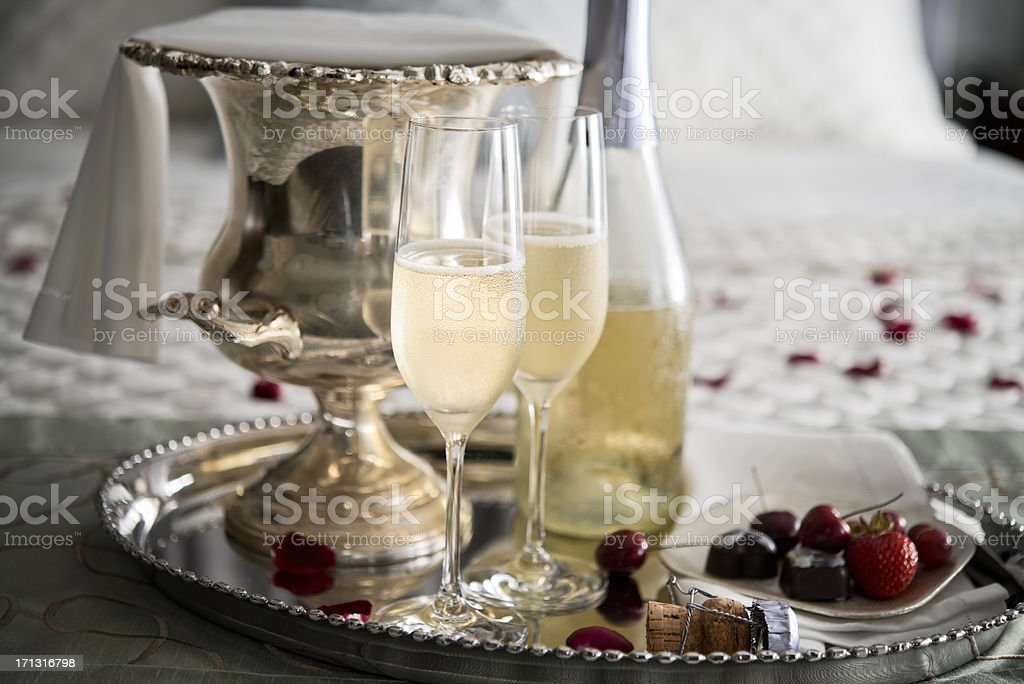 Champagne before Bed - XXXL stock photo