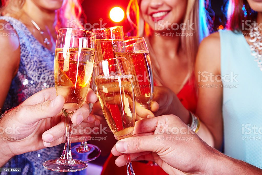 Champagne booze stock photo