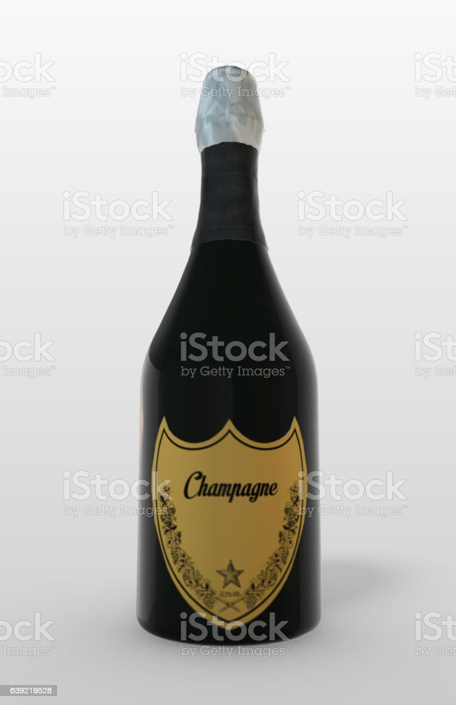 Champagne Bottle - Isolated stock photo