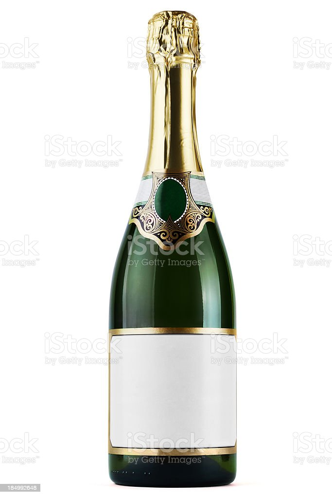 Champagne bottle royalty-free stock photo