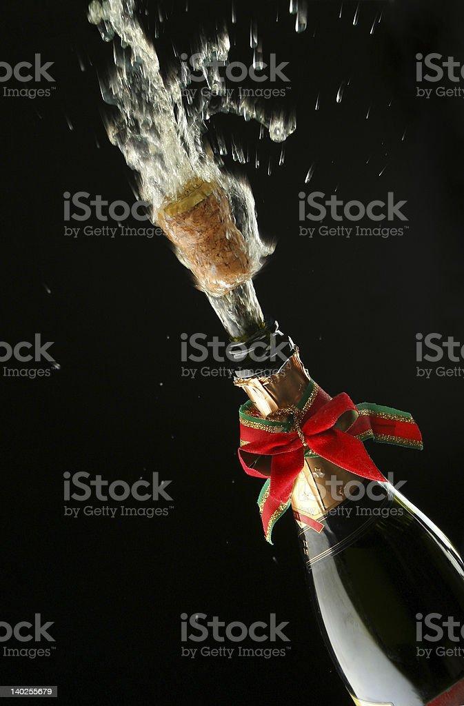 Champagne bottle ready for celebration royalty-free stock photo