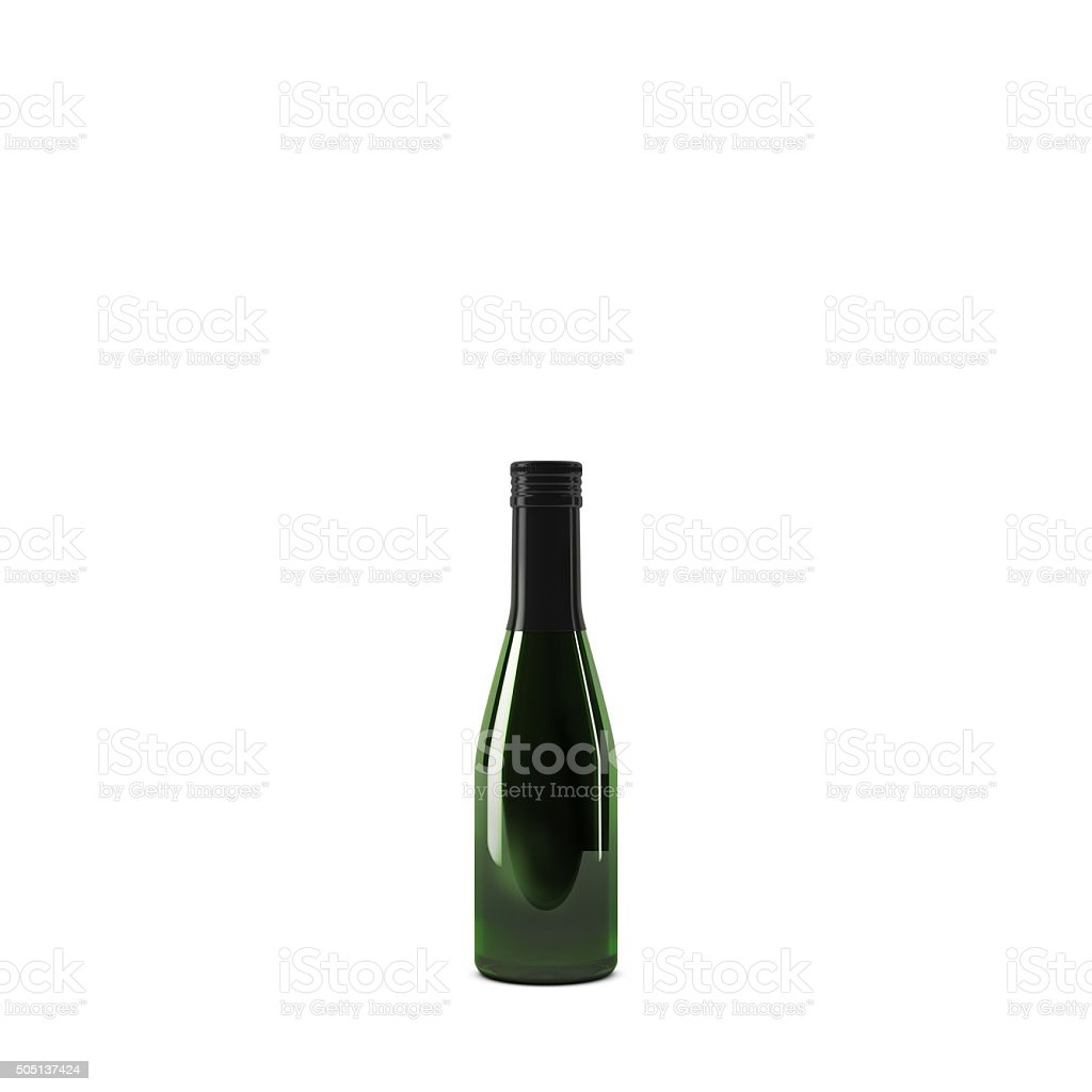 champagne bottle small stock photo
