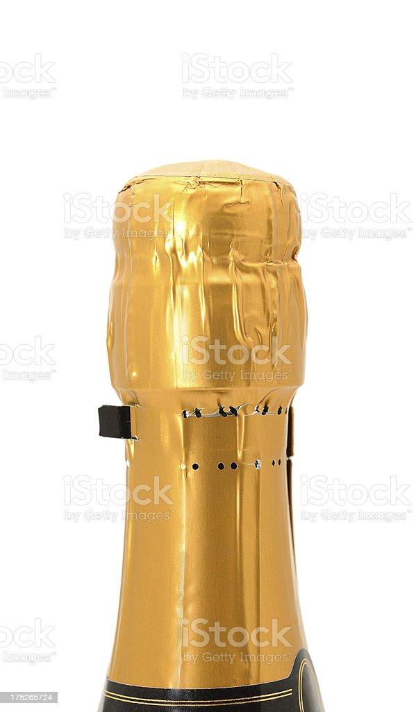 Champagne bottleneck on white background royalty-free stock photo
