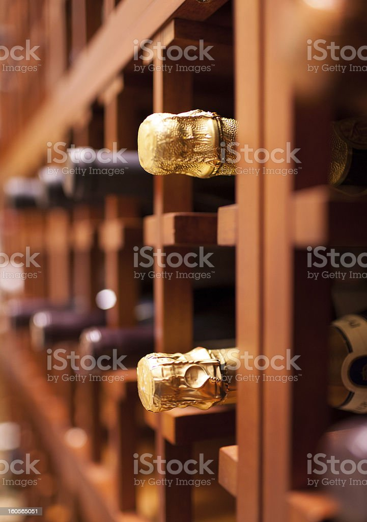 Champagne bottles royalty-free stock photo