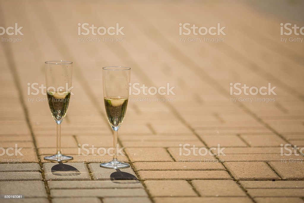 champagne by the glass,wedding decor royalty-free stock photo