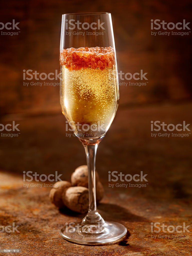 Champagne Caviar Cocktail stock photo