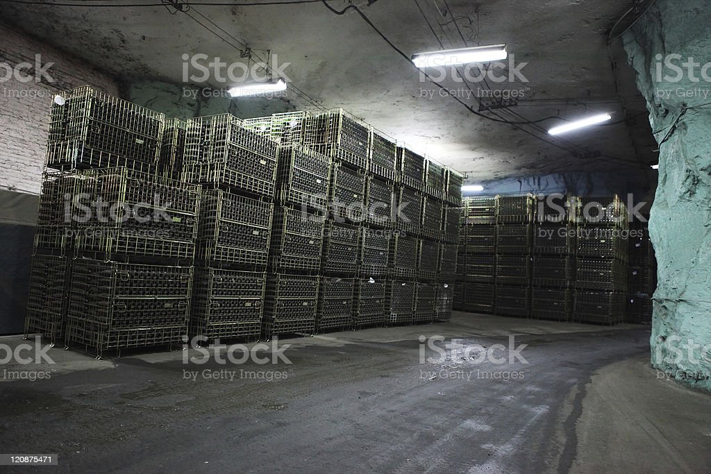 Champagne Cellar, factory royalty-free stock photo