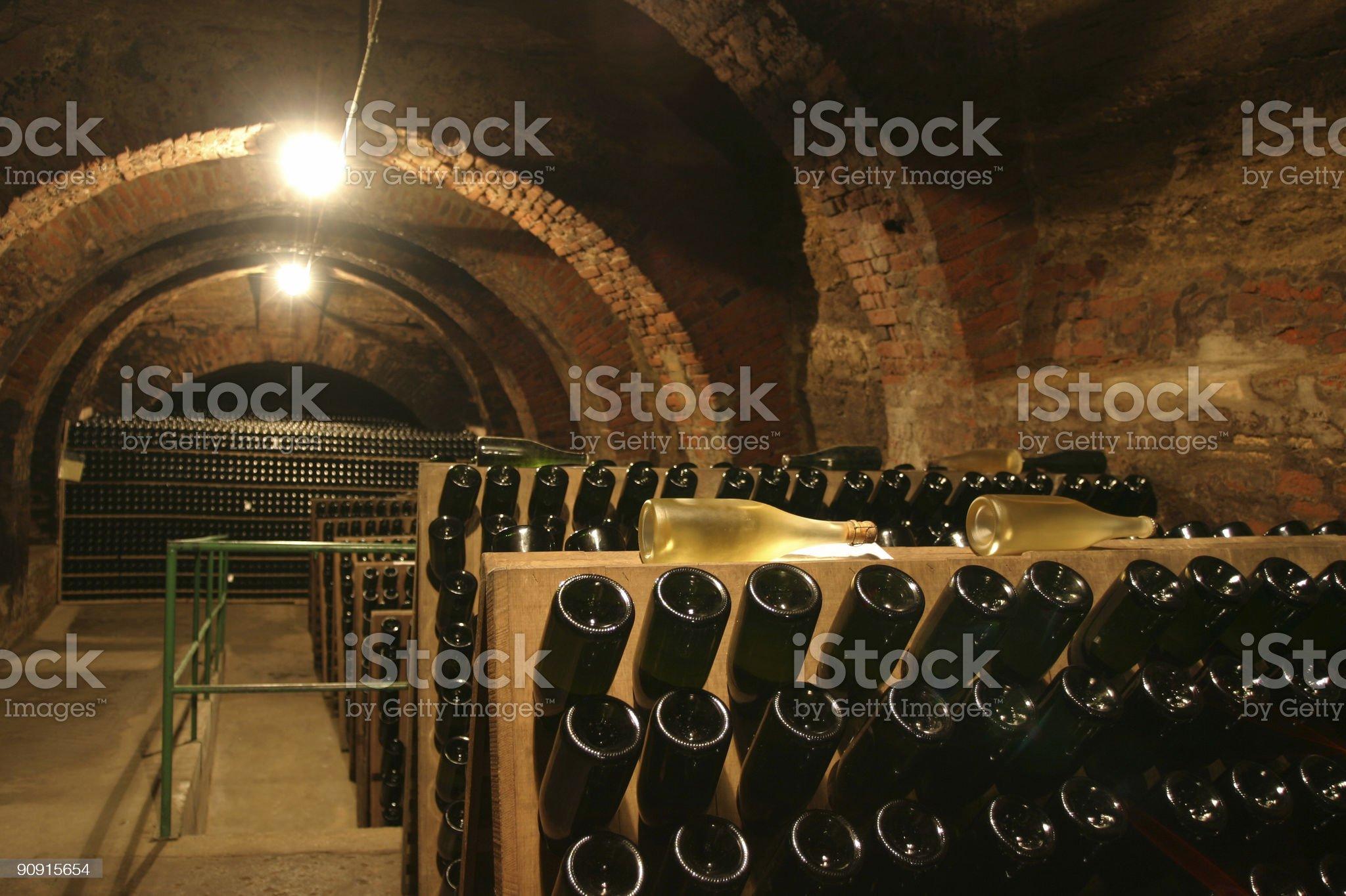 champagne cellar royalty-free stock photo