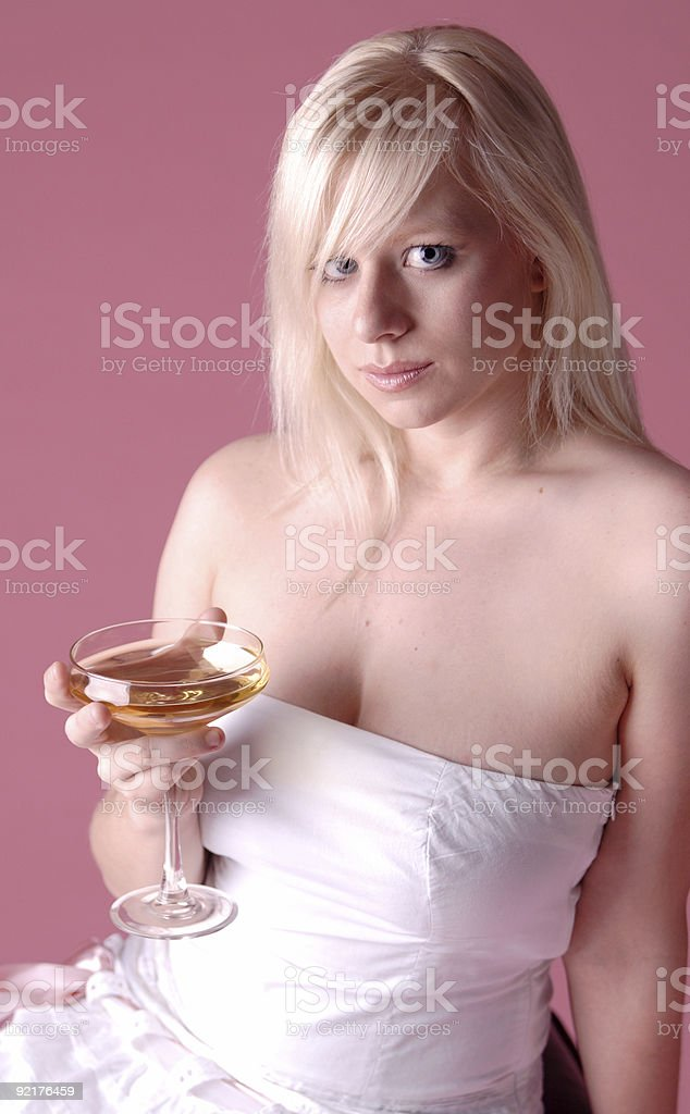 Champagne cocktail. royalty-free stock photo