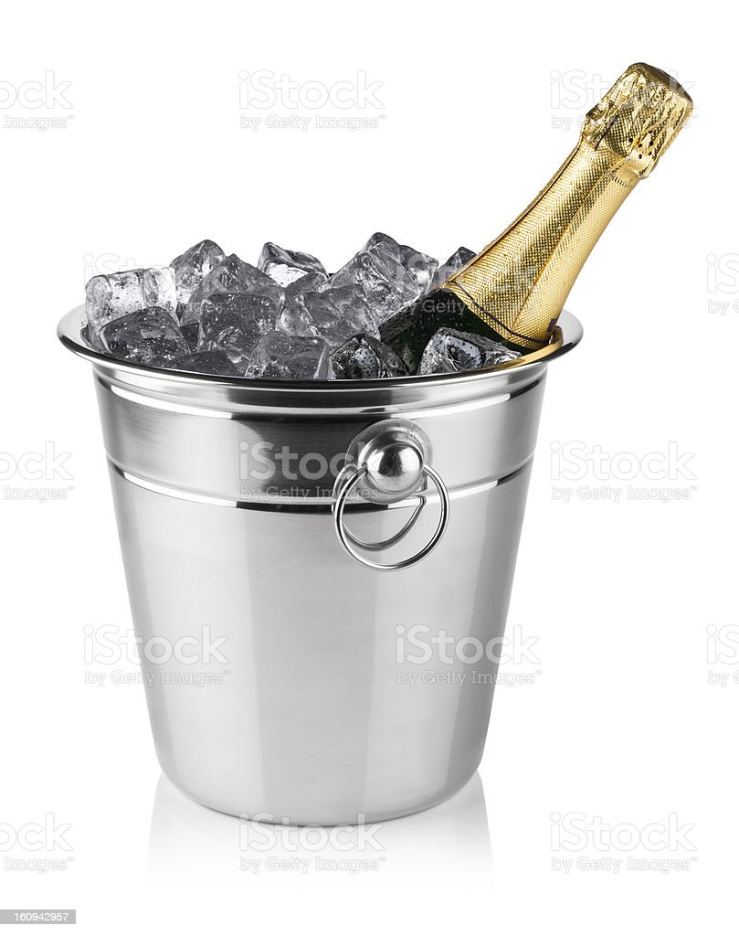 champagne cooler stock photo