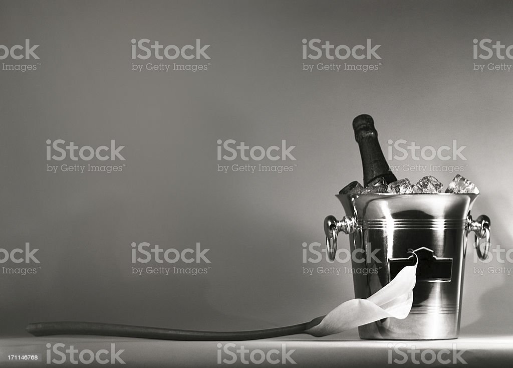 champagne cooler royalty-free stock photo