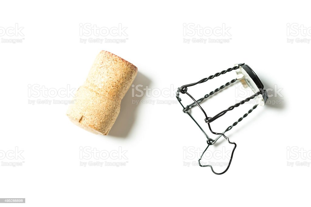 champagne cork stock photo