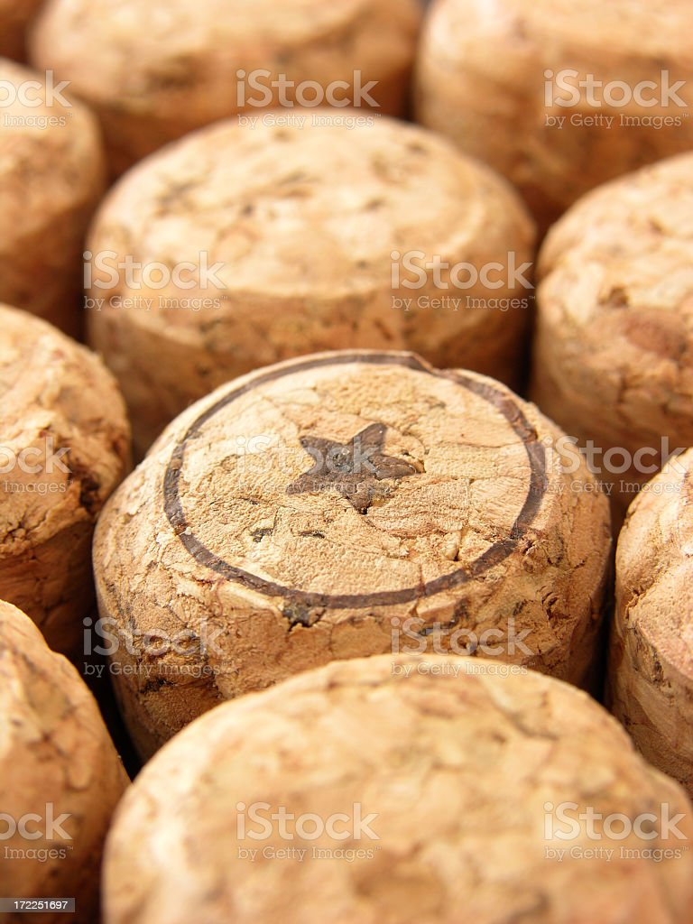 Champagne corks detail royalty-free stock photo