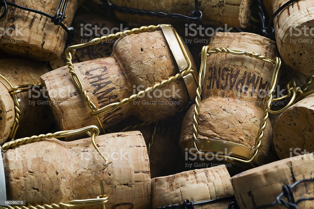 Champagne corks stock photo