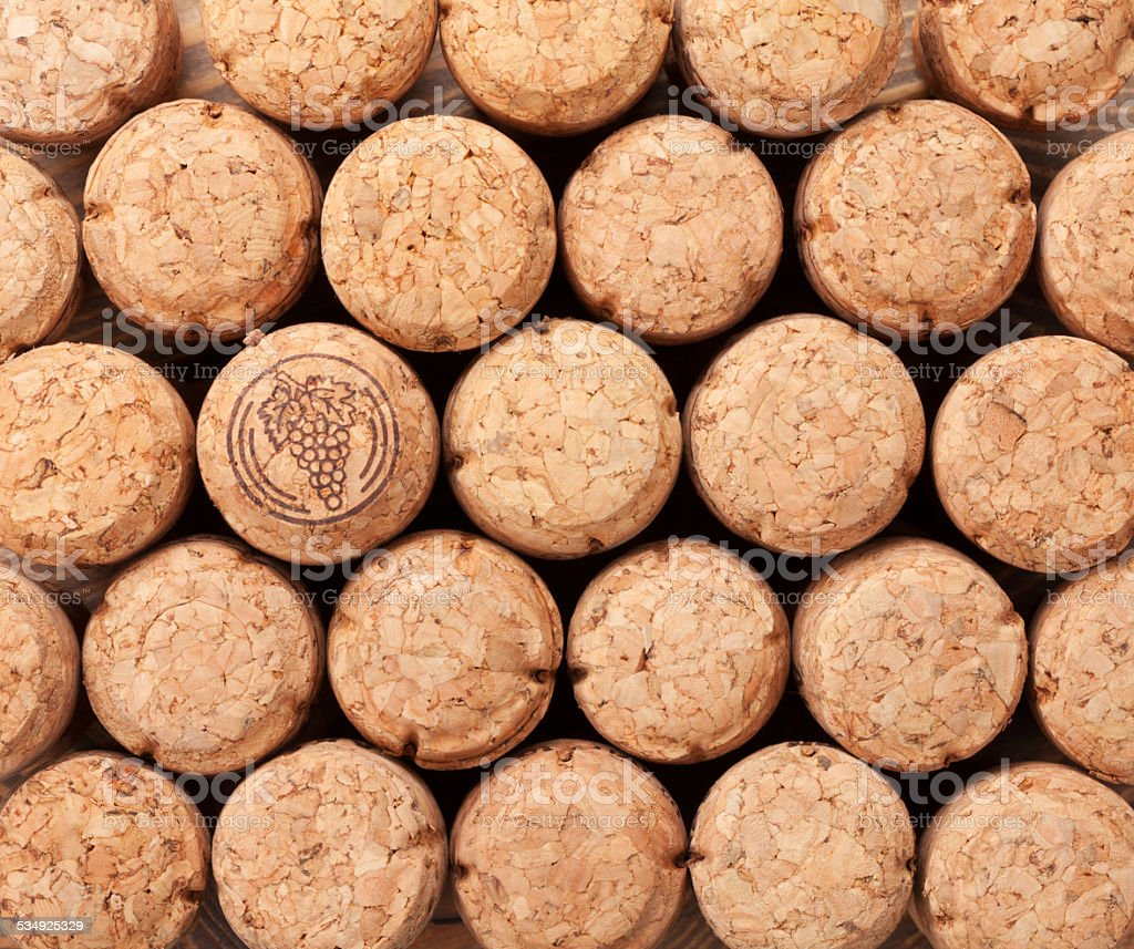 Champagne corks texture stock photo