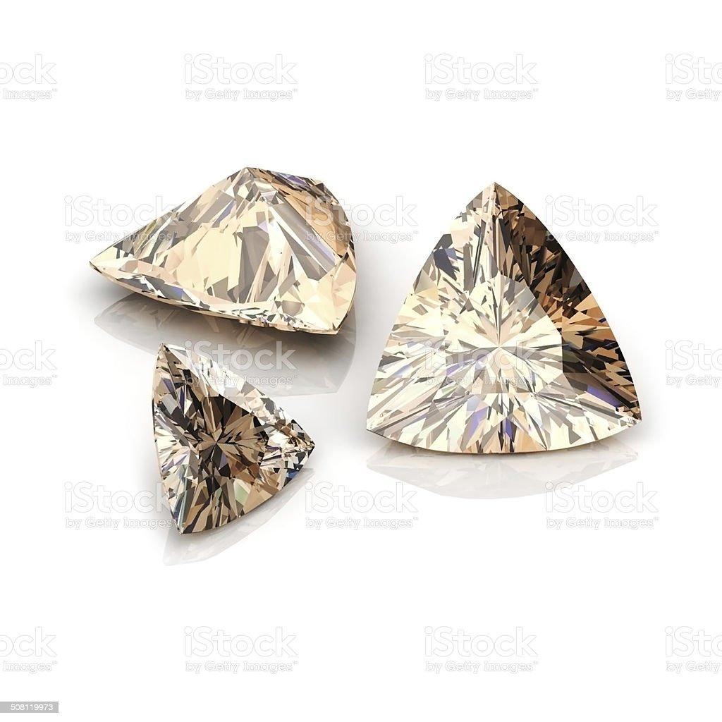 Champagne Dianmonds triiliant stock photo