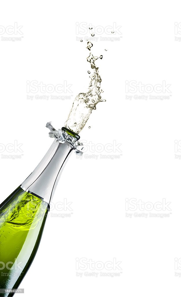 Champagne Exploding royalty-free stock photo