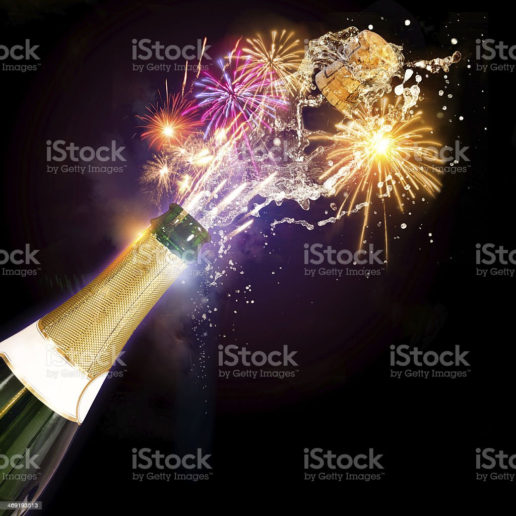 Champagne & Fireworks Celebrations stock photo