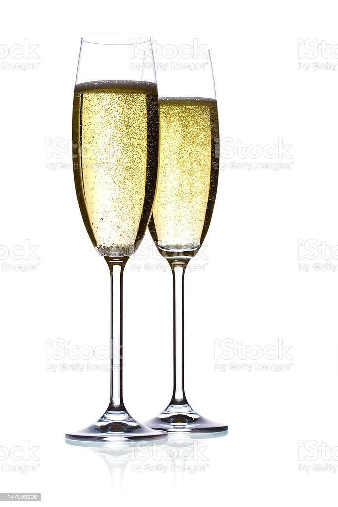 champagne flutes stock photo