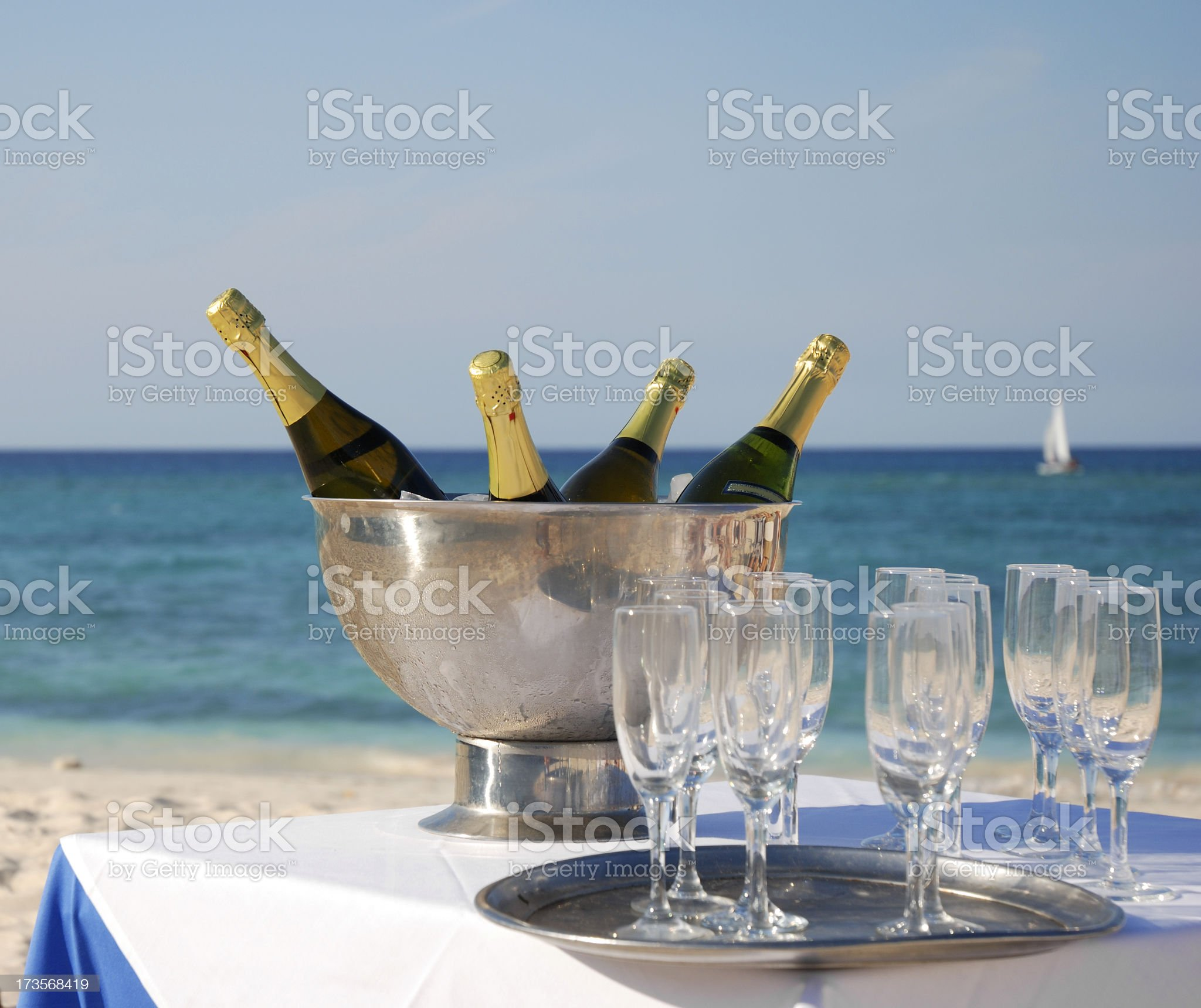 Champagne for celebration royalty-free stock photo