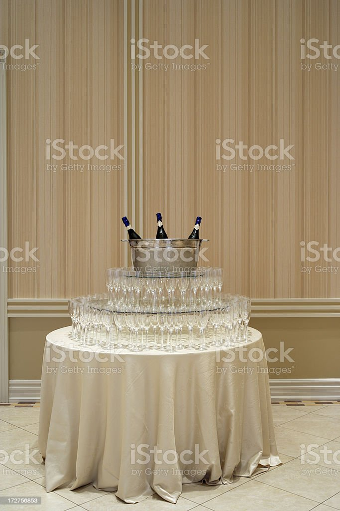 Champagne for guests royalty-free stock photo