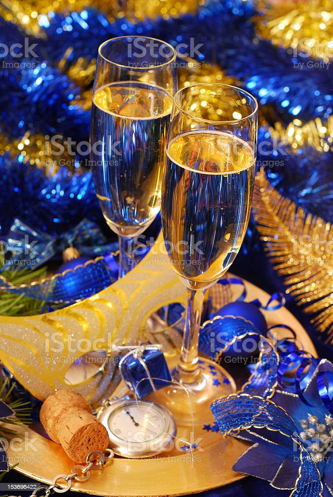 champagne for New Year royalty-free stock photo