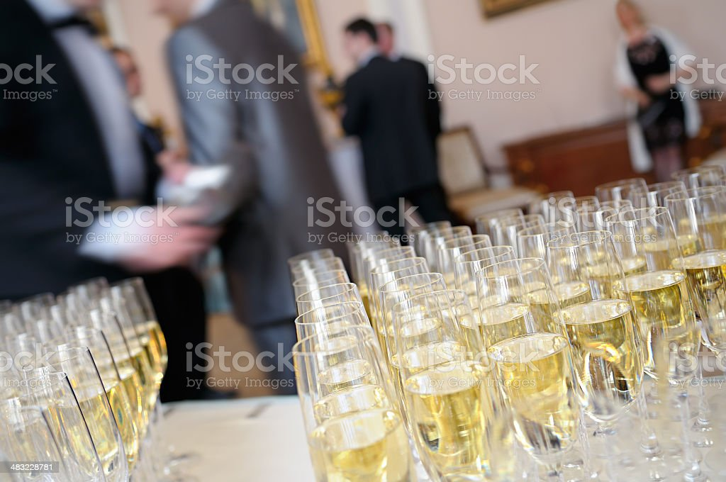 Champagne for presentation. royalty-free stock photo