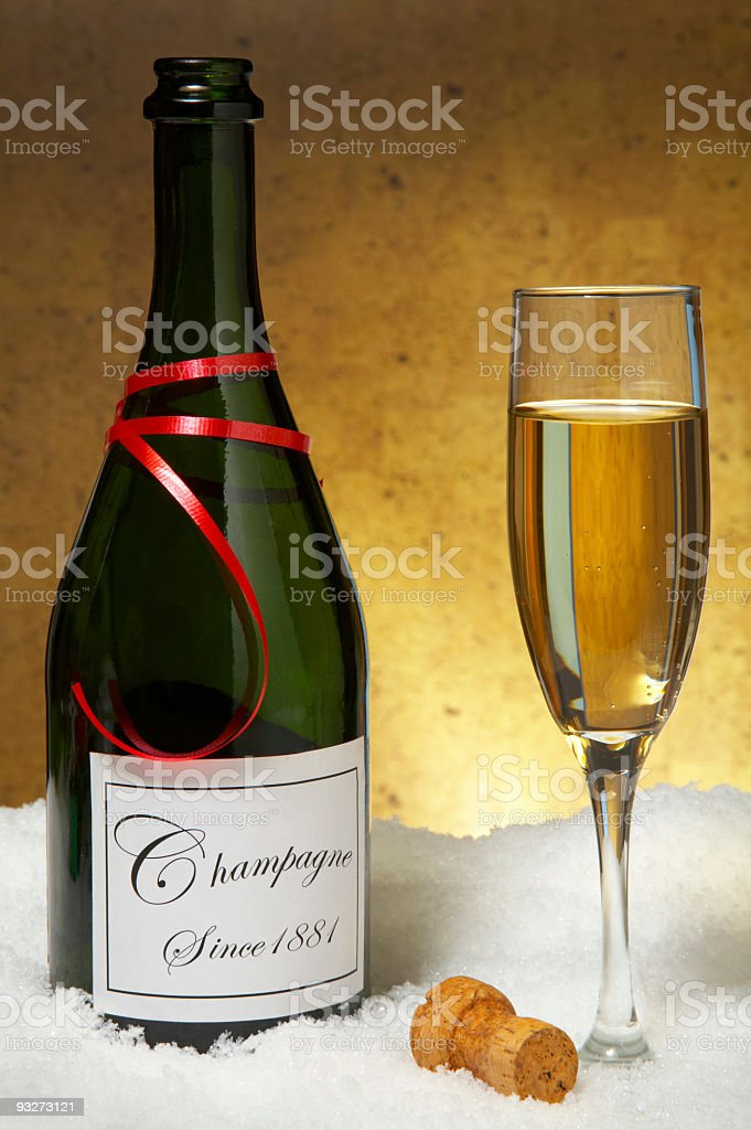 Champagne for the Holidays royalty-free stock photo