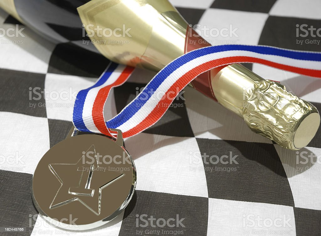 Champagne for the winner. royalty-free stock photo