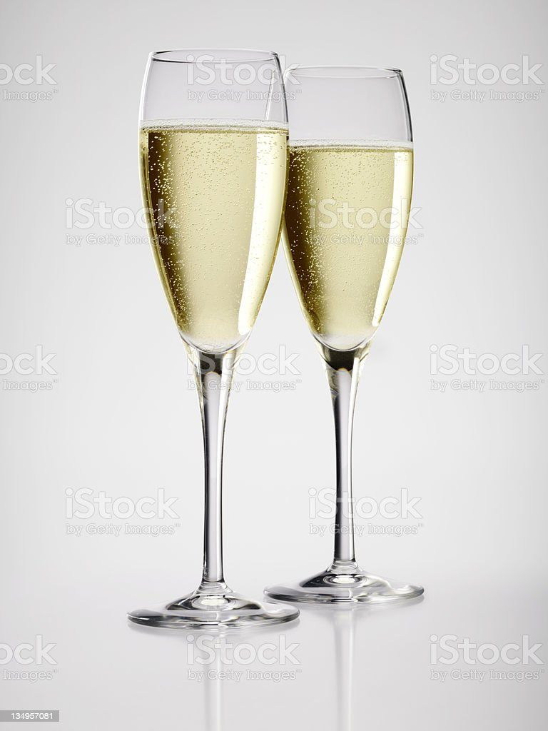 Champagne for two royalty-free stock photo