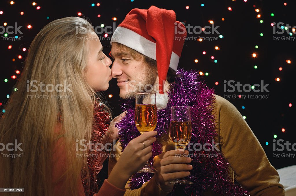 champagne for two stock photo