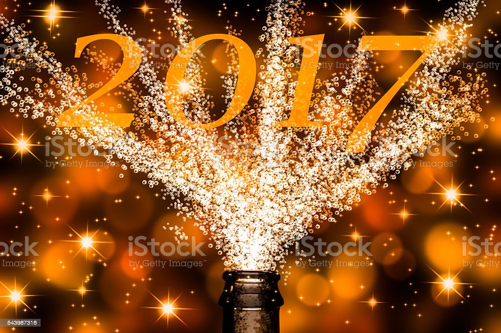 champagne fountain at 2017 stock photo