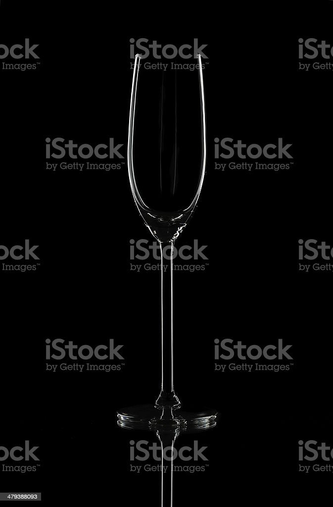 Champagne glass on isolated background royalty-free stock photo