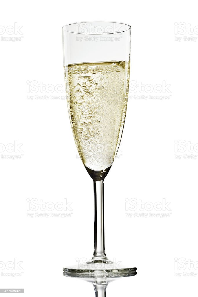 Champagne Glass On White royalty-free stock photo
